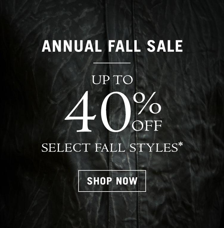 Annual Fall Sale Event